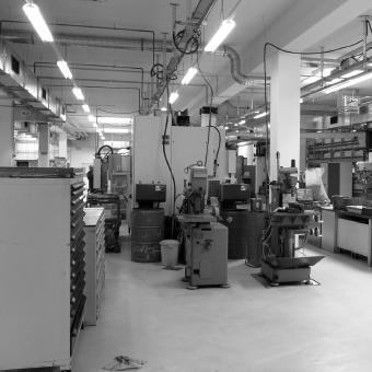 Blick in den Produktionsbereich